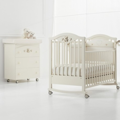 Baby bed and bath-changing Amour Erbesi + mattress Gift