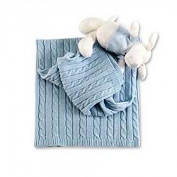 Coperta in lana trecce Picci per culla/carrozzina