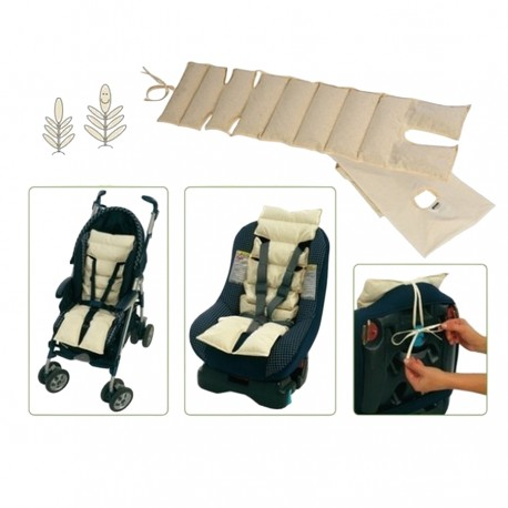 Happy back mattress in farro pula for stroller and car seat Andy & Helen