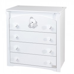 Large chest of drawers 4 drawers white Sleepy