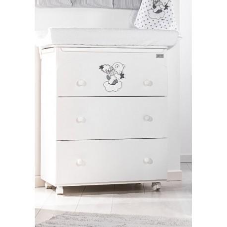 Bain / Table à langer 3 tiroirs modèle Picci Bo-Bo