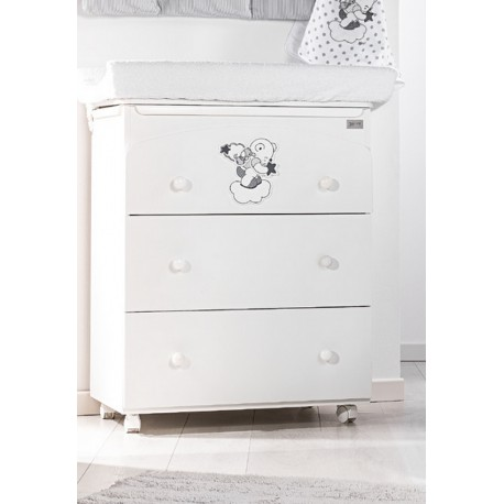 Bath / Changing table 3 drawers Picci model Bo-Bo