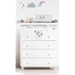 Bath/Changing Table 4 drawers Picci Mambo model