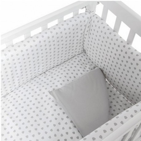 Lella - The cot bed Picci complete with patterned upholstery- mattress - Free pillow