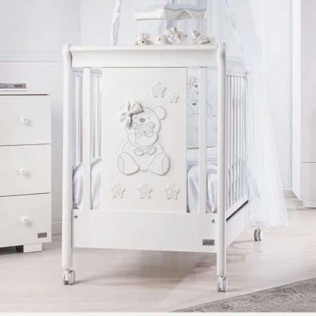Letto in legno laccato Bianco Vanity Picci con materasso in omaggio