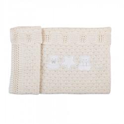 Coperta per culla 100% lana Nanny Picci