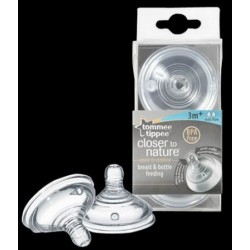 Medium flow teats 3m+ Tommee Tippee