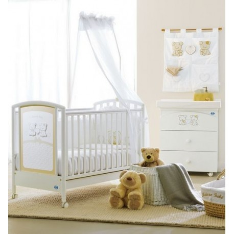 Cot and baby bath/changing table Maison Bebe Pali + mattress and pillow free