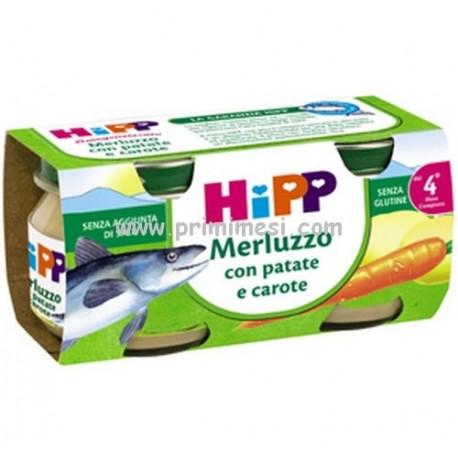 Homogenized cod fish with potatoes and carrots Hipp