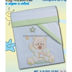 Composè cradle/wheelchair summer cotton 3pz Andy & Helen