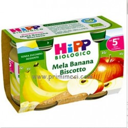 Merenda Mela Banana Biscotto Hipp