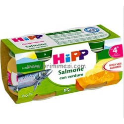 Homogenized salmon fish with Hipp
