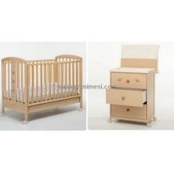 Baby cot and bath with the Paky Foppapedretti + diaper container and mattress are free