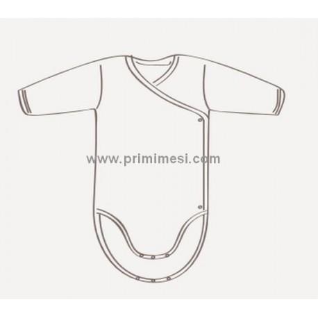 Warm cotton underwear Rapife long sleeve side opening