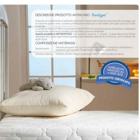 Antiacaro Sanitized Mattress These Children