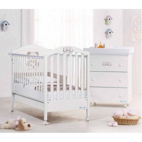 Chambre fun Azzurra Design avec lit et  à langer pour bébé - Matelas cadeau