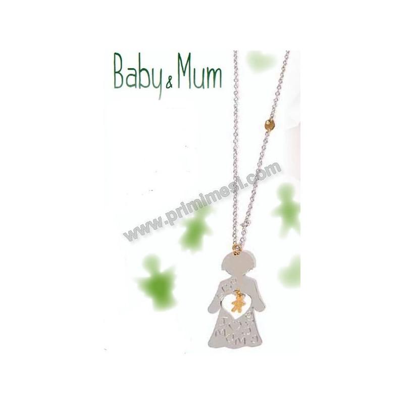vari colori f0ccc 689bd Baby & Mum - collana per la mamma e bracciale per il bambino